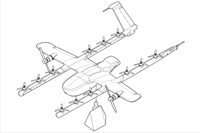 alphabet wing drone