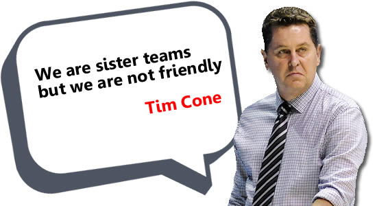 We are sister teams but we are not friendly - Cone, see list of statements