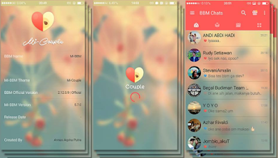 Mi-BBM Mod Couple Themes New Based V.2.12.0.9 APK