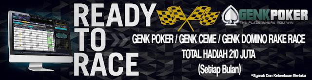 poker, ceme, domino rake race genkpoker