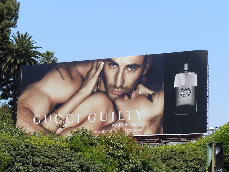 Gucci Guilty Chris Evans billboard