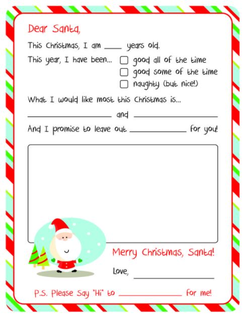 Letter to Santa Template Tips