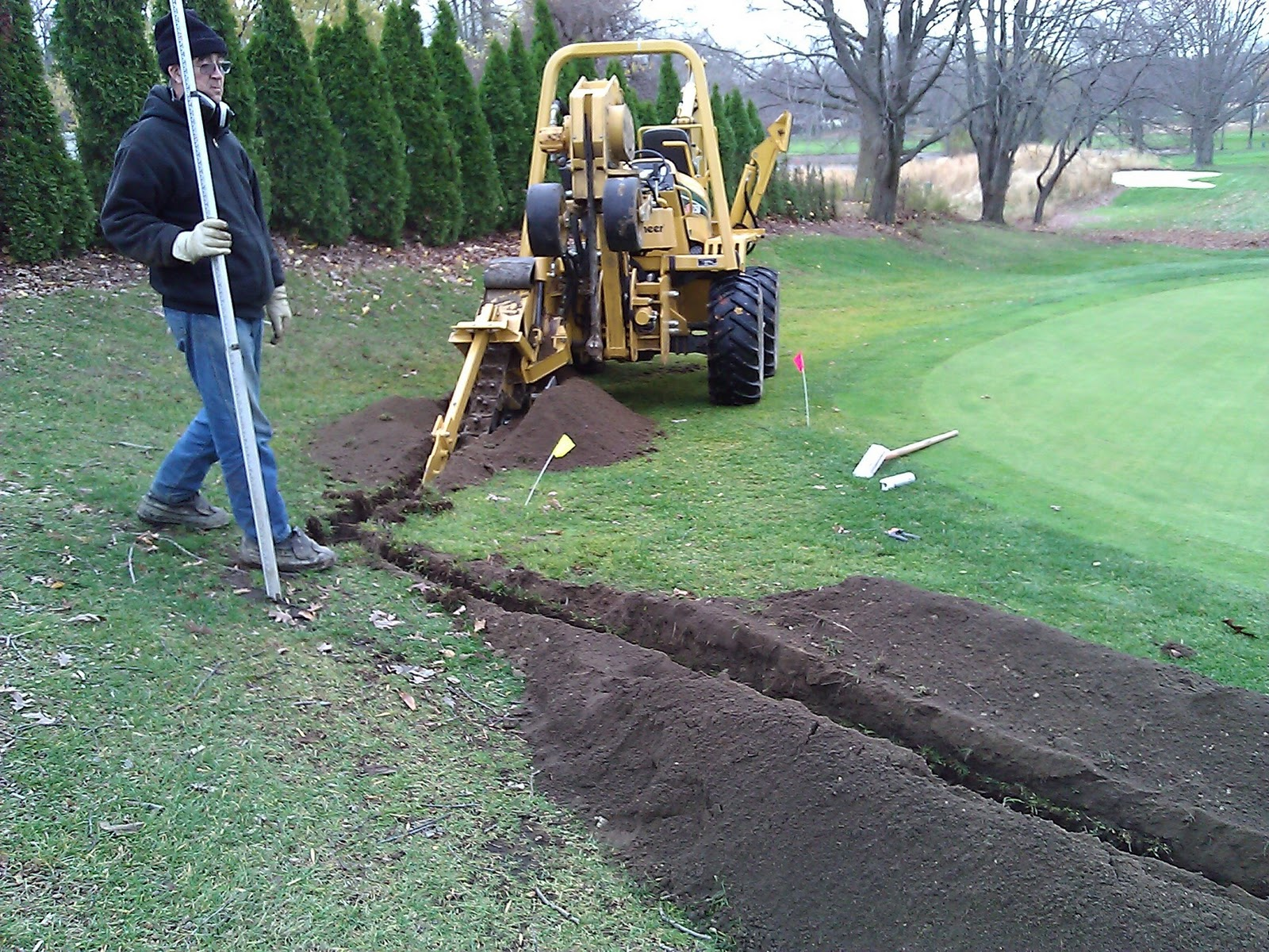 Chikaming Country Club - Grounds Department: Root Pruning
