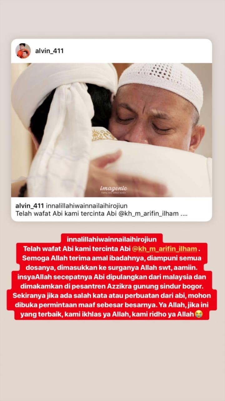 KH M Arifin Ilham Wafat, Ungkapan Faiz Pecahkan Tangis