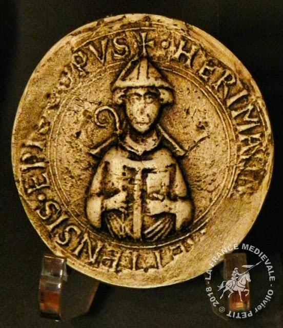 Sceau daté de 1090 appartenant à l'évêque Hermann (1072-1090)