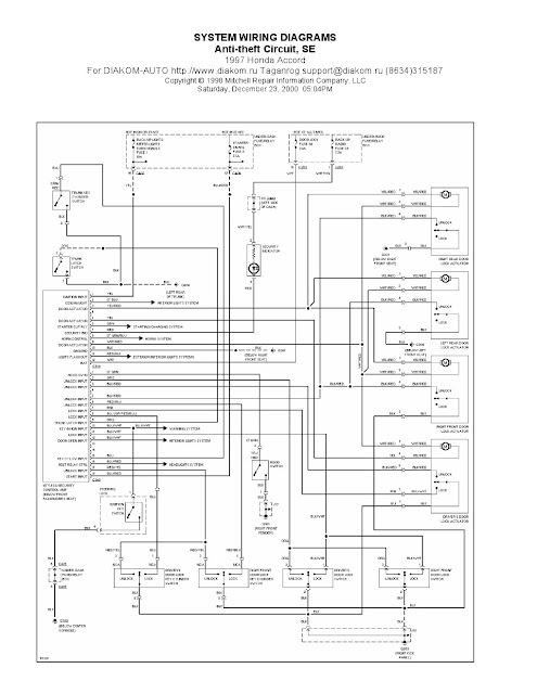 1997    Honda    Accord Antitheft Circuit SE  System    Wiring       Diagrams      Schematic    Wiring       Diagrams