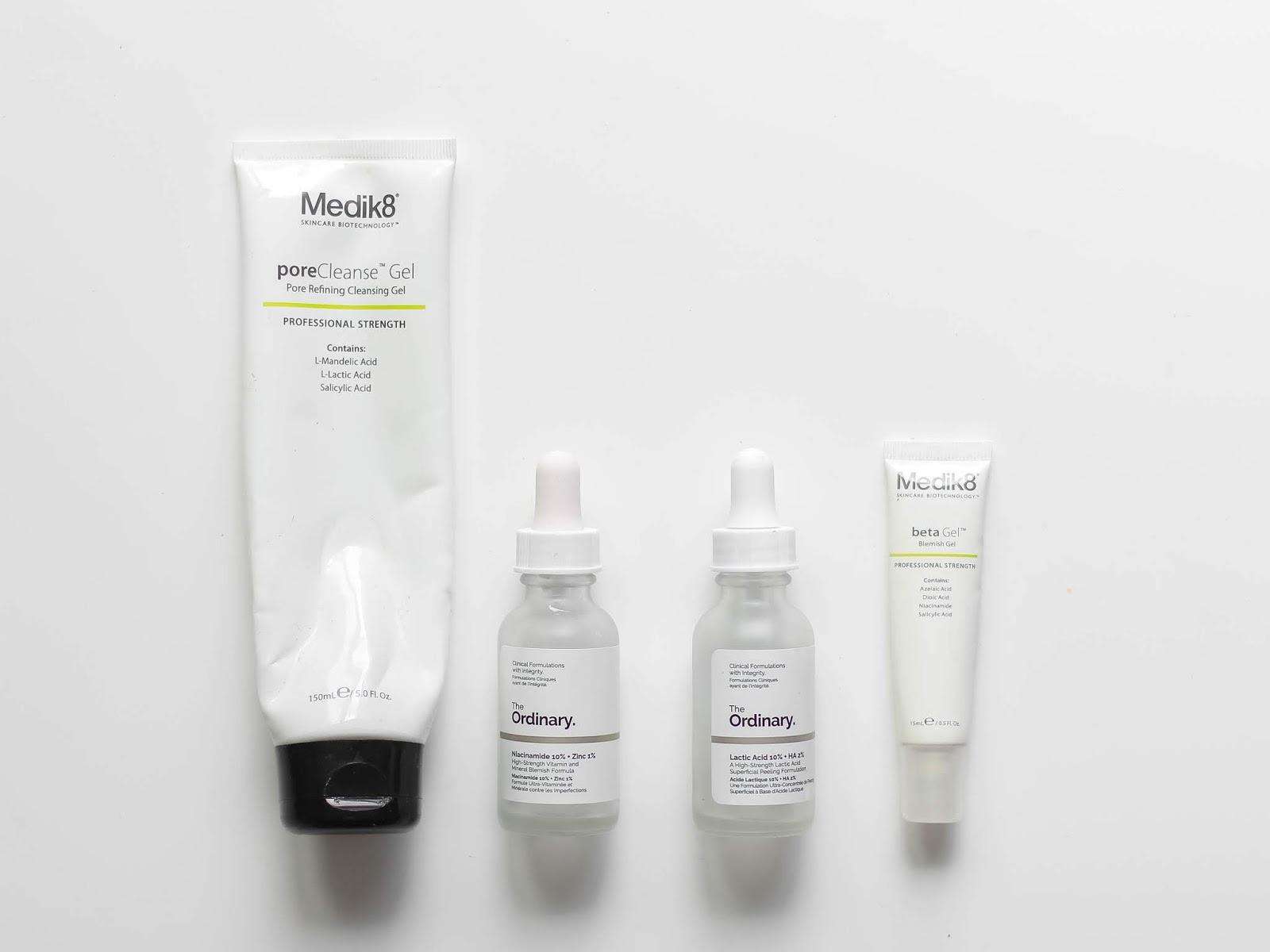 spotřebováno kosmetika the ordinary recenze medik8