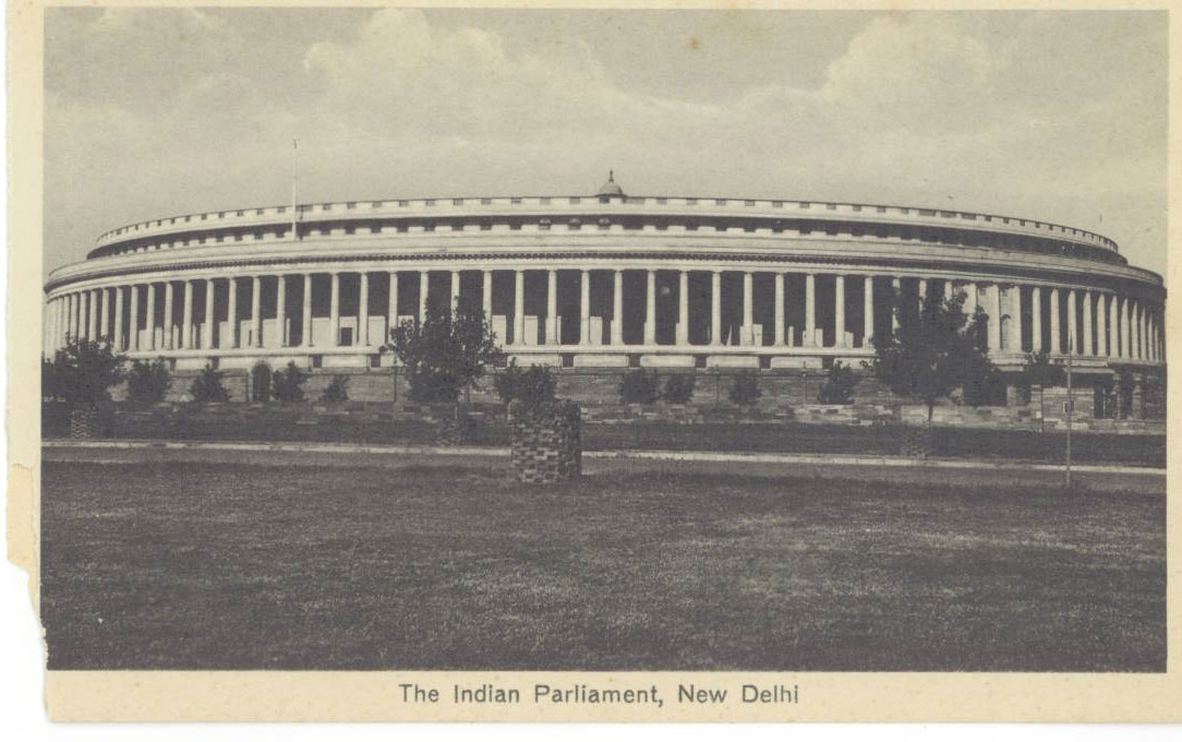 The Indian Parliament, New Delhi. Containing the Council of State Princes Chamber & the Legislative Assembly