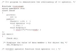 Increment dan Decrement Operator Overloading di Pemrograman C++