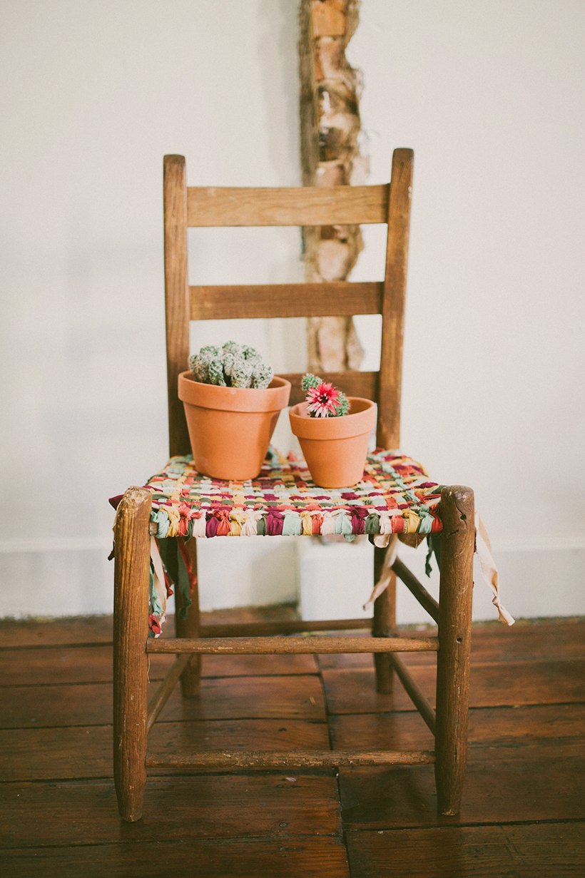 Wooden Chair Makeover // DIY