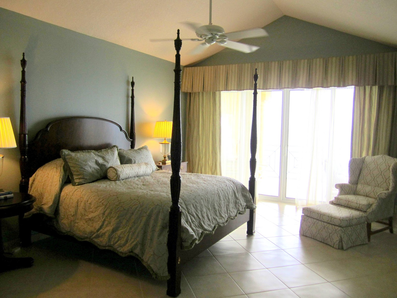 Palm Trees Amp Damask Master Bedroom