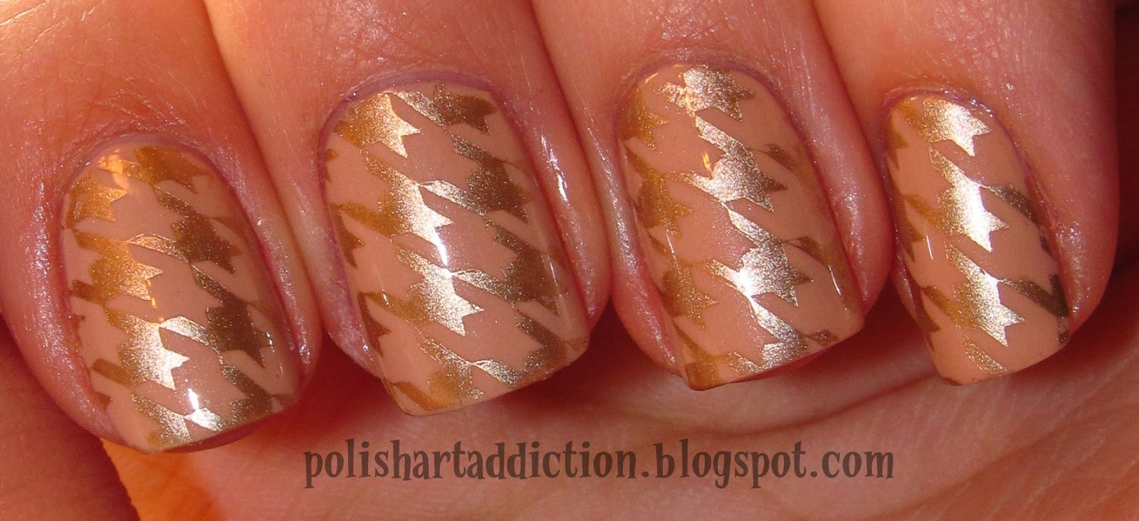 Nude Houndstooth
