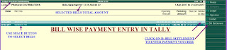 bill wise payment entry in tally