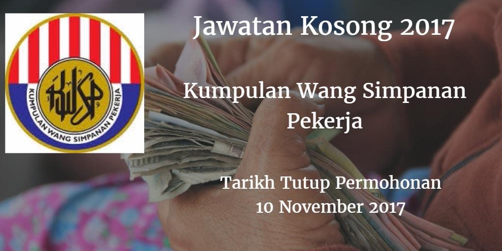 Jawatan Kosong KWSP 10 November 2017