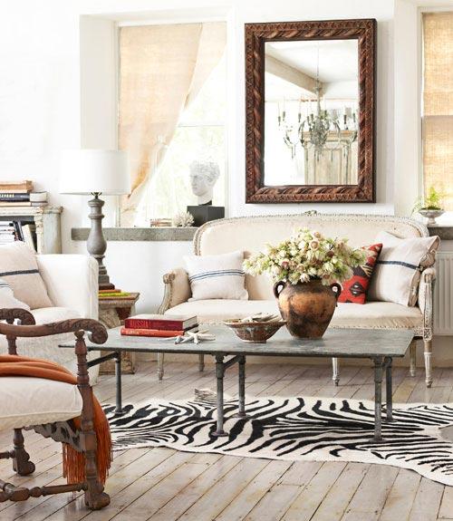 My House Of Giggles Zebra Skin Rug For Sale