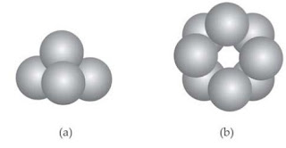 Contoh Molekul Unsur (a) fosforus dan (b) belerang