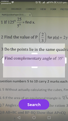 adjust the question area