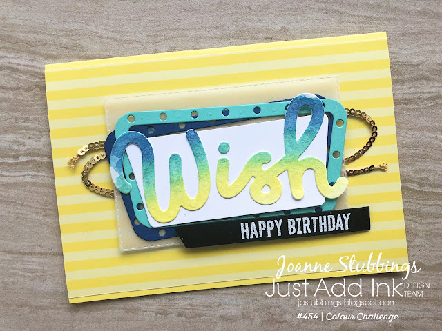 Jo's Stamping Spot - Just Add Ink Challenge #454 using Broadway Birthday by Stampin' Up!