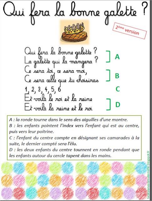 """Ronde chantée : """"La bonne galette"""" 2"""