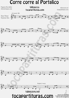Partitura de para Saxofón Soprano y Saxo Tenor  Sheet Music for Soprano Sax and Tenor Saxophone Music Scores