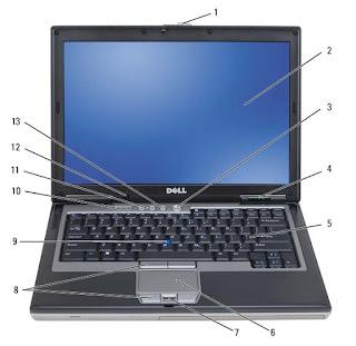 Front View Dell Latitude D630/D630c: