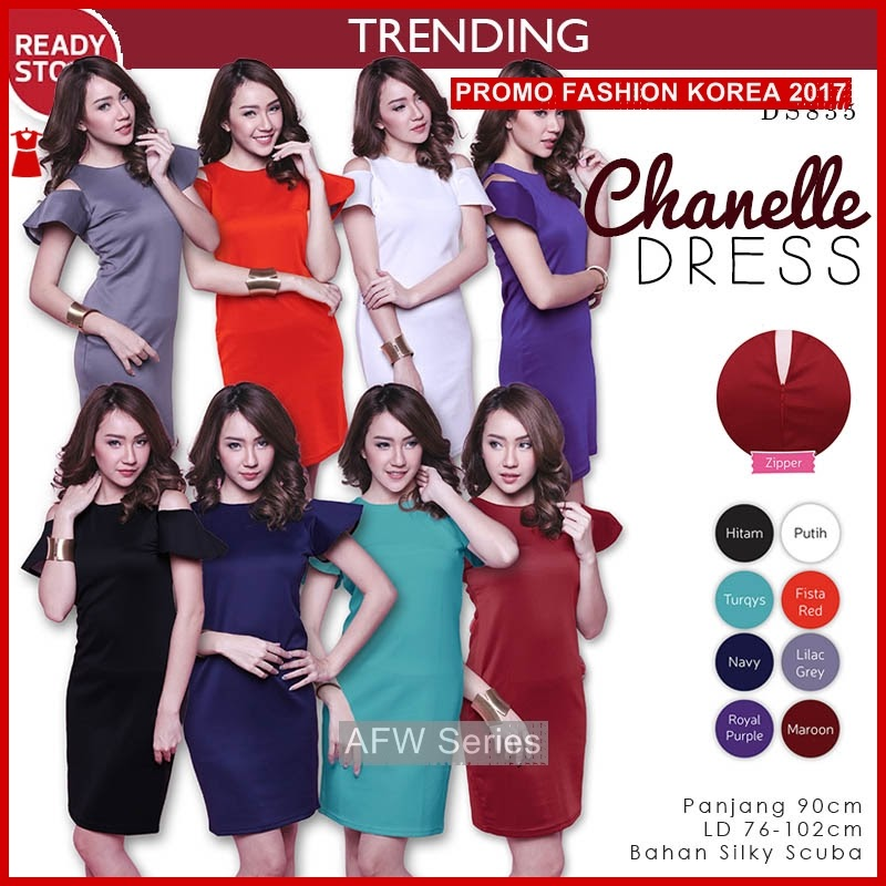 BAMFGW012 Ready Chanel Dress Wanita PROMO BMG