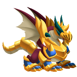 Appearance of Glitter Dragon when adult