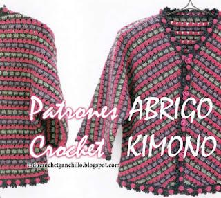 Patrones de kimono crochet