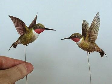 Papercraft Hummingbird Tektonten Papercraft