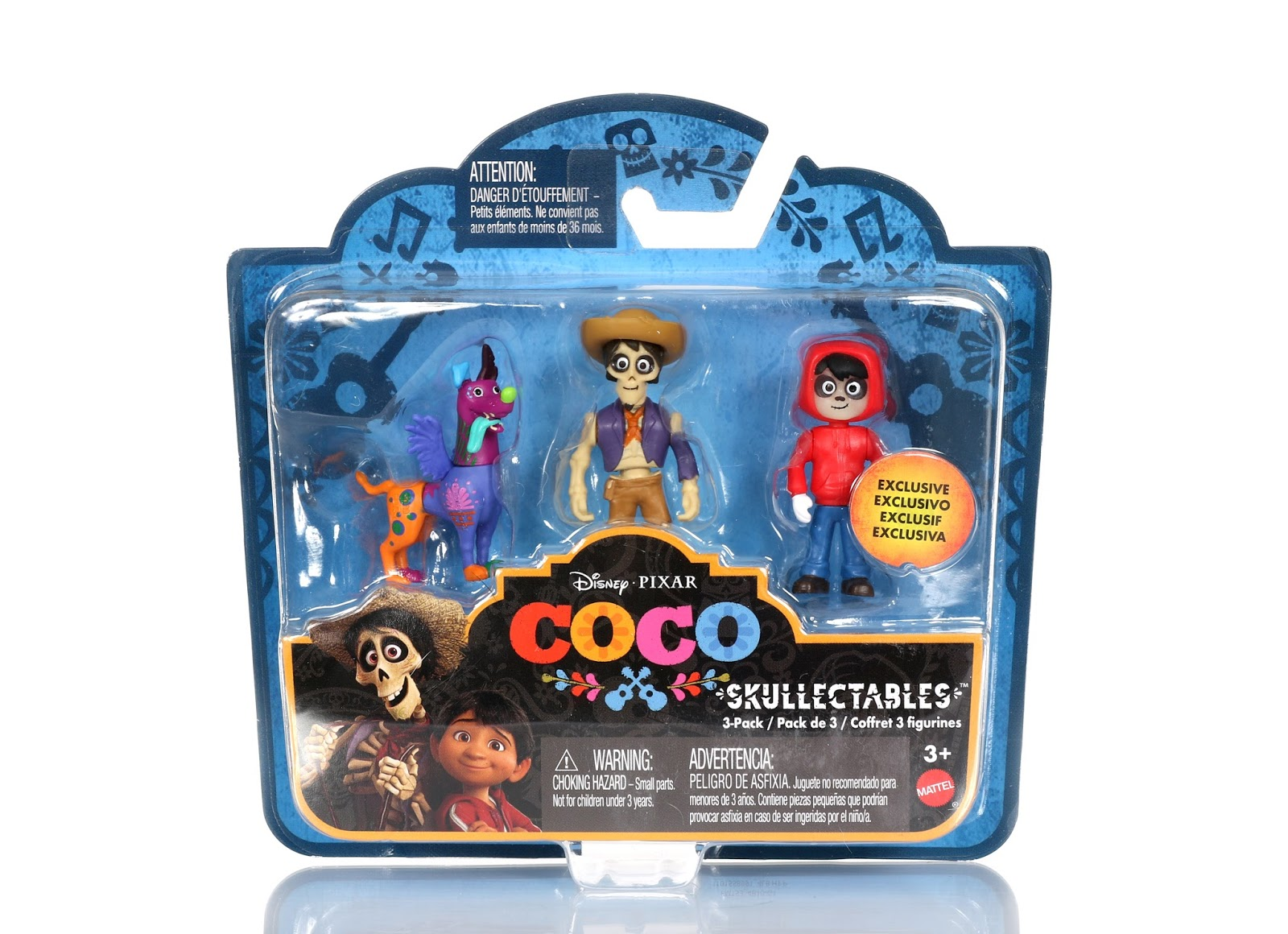 pixar coco skullectables 3-pack