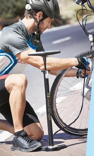 inflador de pie para bici Lidl