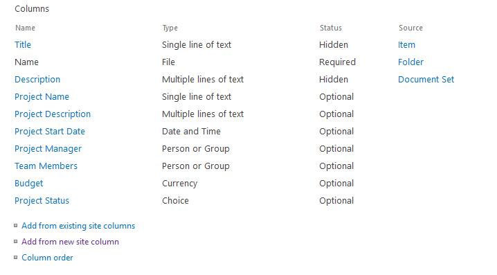 sharepoint online csom create document set