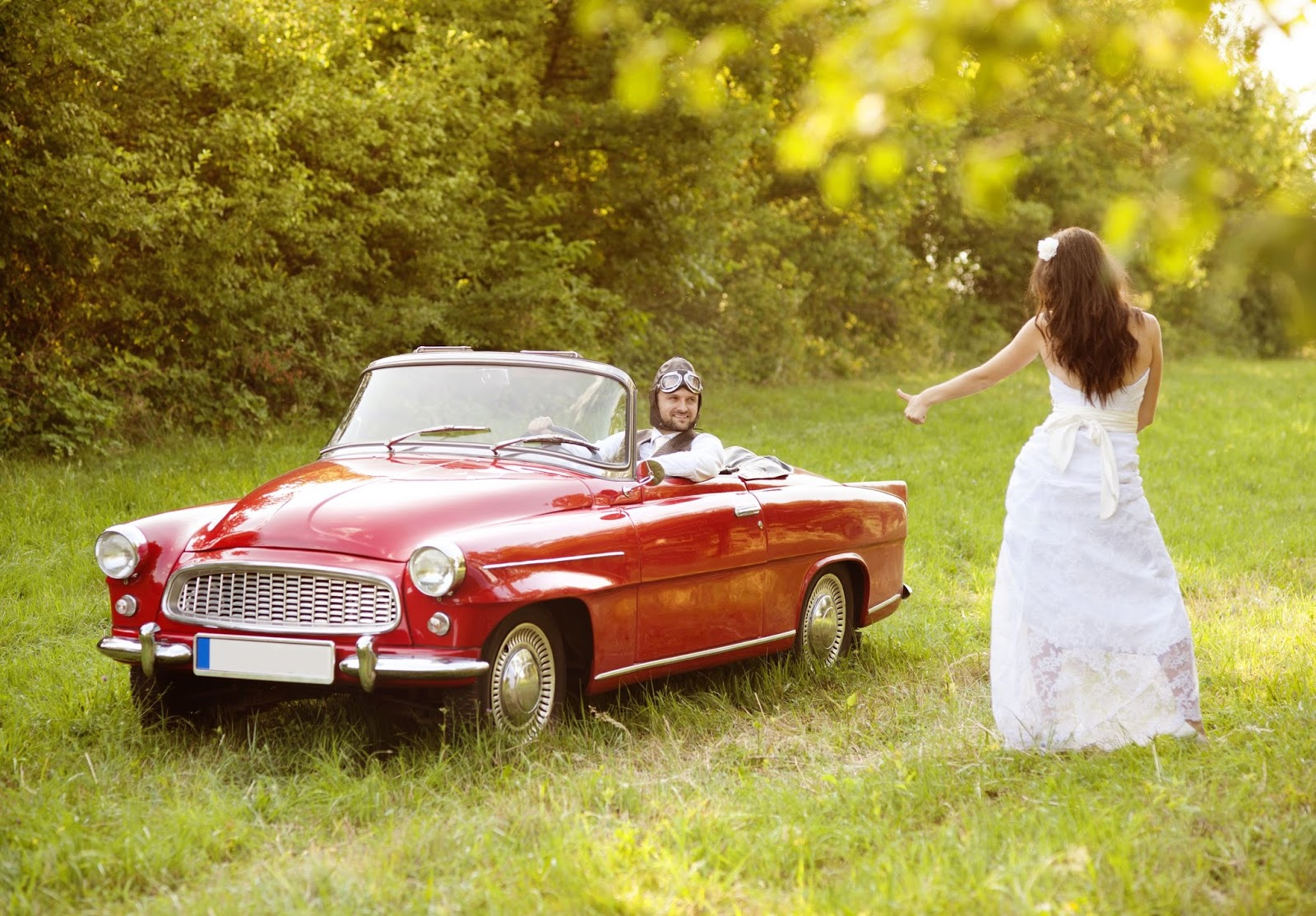 Rustic 4 Weddings: Classic Car Wedding Photography Shoot