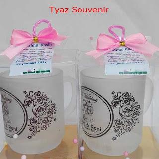 Jual Gelas Souvenir Pernikahan, Anniversary, Brand Perusahaan Murah Di Surabaya