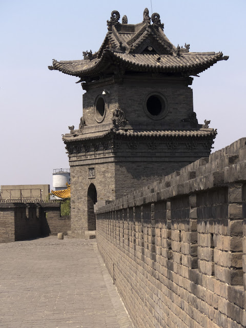 Tower on the city wall in Pingyao, China