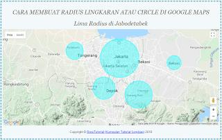 Cara Membuat beberapa Gambar Radius lingkaran Circle di Google Maps