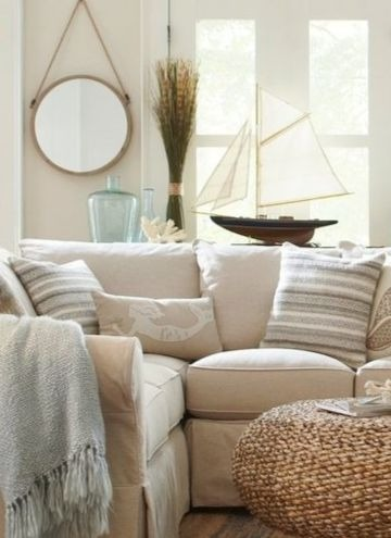 Model Sailboat Living Room Decor Idea