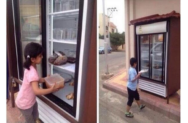 Man Installs Refrigerator Outside his Home to Feed the Needy