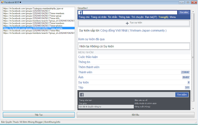 VB.NET - Full Code Auto View Link Groups Facebook