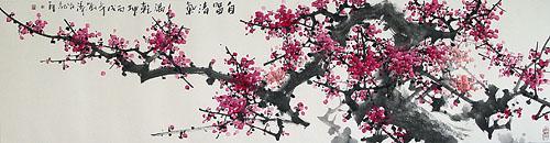 cerezo en flor en el jardín de xiao ying