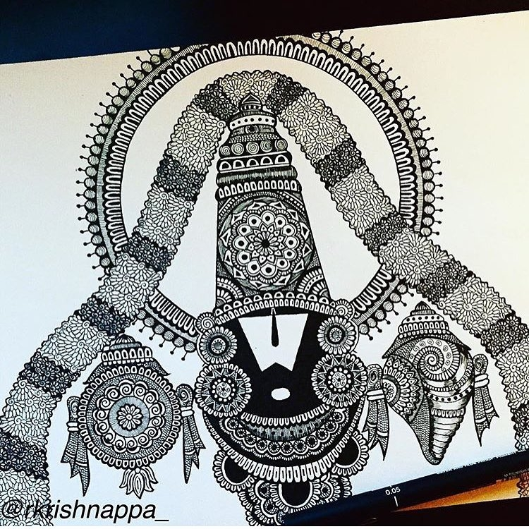 05-Venkateshwara-Rashmi-Krishnappa-Calm-and-Serenity-in-Balanced-Pen-drawings-www-designstack-co