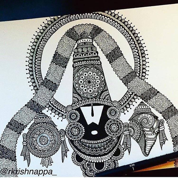 05-Venkateshwara-Rashmi-Krishnappa-Calm-and-Serenity-in-Balanced-Pen-drawings-www-designstack-co