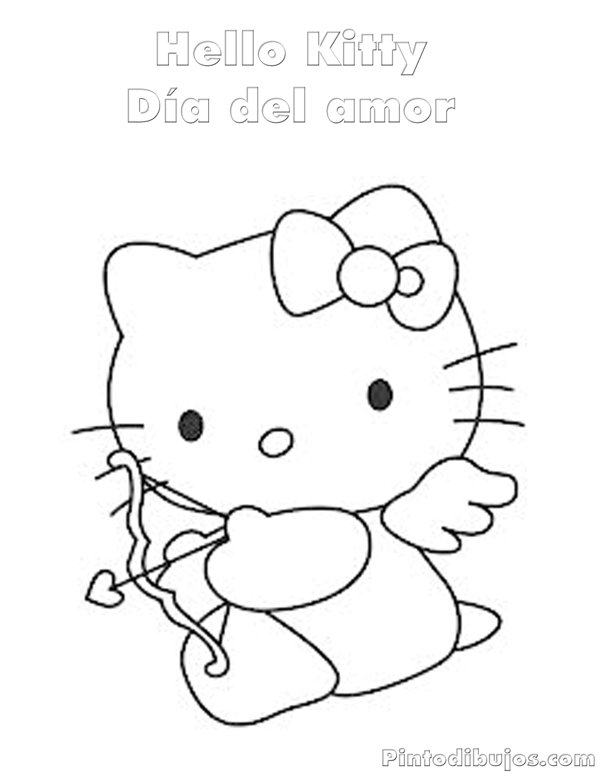 Hello Kitty Valentines Day Coloring Pages Coloring Pages