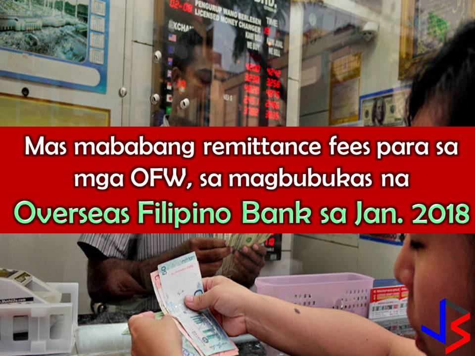 "Starting next year, more than 10 million Filipinos worldwide may start to benefit or transact with the new Overseas Filipino Bank (OFB).  Department of Labor and Employment (DOLE) Secretary Silvestre Bello confirmed the news, after President Rodrigo Duterte signed Executive Order 44 on Sept. 28, approving the Land Bank of the Philippines' acquisition of Philippine Postal Savings Bank, and convert it into the OFB.  Bello said the OFB aims to bring down remittance cost of overseas Filipinos since the new bak is created for them. ""The intention, at least, it will be a cheaper remittance fee,"" Bello said."