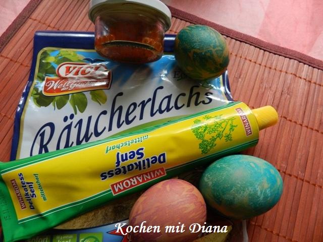 Zutaten gefüllte Eier