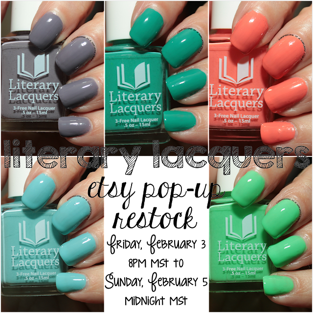 Literary Lacquers Cremes - restock February 3