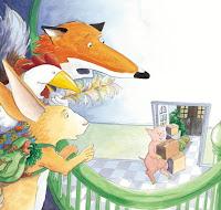 """Ilustração do livro infantil """"Um Porco Vem Morar Aqui"""", da Claudia Fries."""