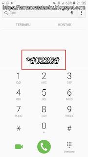 kode reset baterai samsung
