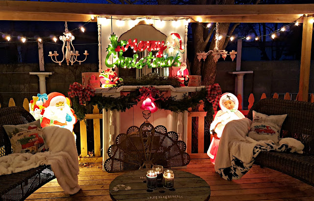 Vintage Christmas Decor on the Back Porch by Penny's Vintage Home