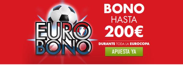 sportium eurobono 200 euros bienvenida codigo promocional JRVM